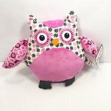 "Ganz Bellapops Pink Owl Plush 9"" Stuffed Animal Toy"