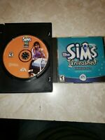 PAIR OF THE SIMS GAMES OPEN FOR BUSINESS & UNLEASHED EXPANSION PACK PC DVD-ROM