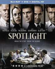 Spotlight Mark Ruffalo Michael Keaton Blu-ray DVD FREE SHIPPING + Slip Case