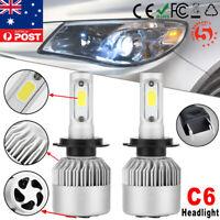 H7 72W 6000K 8000LM LED Car Fog Headlight Kit Globes Bulbs Diverging Beam Lamp