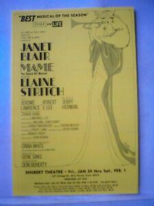 MAME Herald JANET BLAIR / ELAINE STRITCH Tour NEW HAVEN CT Shubert Theatre 1969