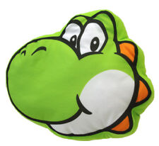 "1x New Little Buddy Super Mario Bros (1260) Yoshi Face 12"" Cushion Plush Pillow"