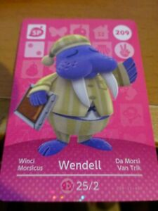 Wendell 209 - Official Animal Crossing Amiibo Card  New Horizons