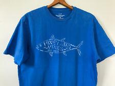 Vineyard Vines Men's Logo T-Shirt sz Medium Short Sleeve Blue Fish Preppy