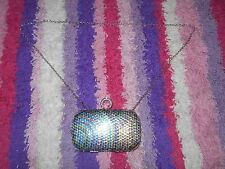 MULTI COLOR SEQUIN EVENING BAG WITH ONE RING KNUCKLE DUSTER EVENING CLUTCH