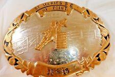 Vintage Comstock Silversmith German Silver Rodeo Belt Buckle Barrel Racing.