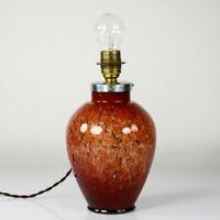 WMF Ikora Leuchte innenbeleuchtet Tisch Lampe Fuß Glas Art Deco Vintage 30- 40er