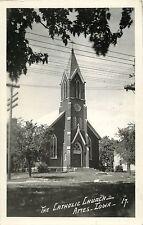 A View of the Catholic Church, Ames IA RPPC