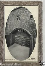 Traitors' Gate Tower of London  embossed 1900s Unposted Postcard