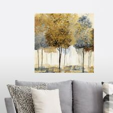 Metallic Forest I Poster Art Print, Tree Home Decor