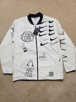 Nike Nathan Bell Printed Running Jacket White/Black (AJ7759-13) Men's Size Large
