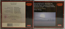 Massenet-MANON-FRENI-pavarotti panerai zerbini-peter Maag 2-cd-box (w135)