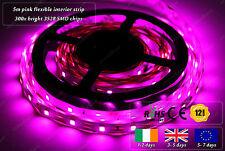 5m Indoor 300x 3528 LED Pink Fairy Lights Home Interior Decorative Strips 12VDC