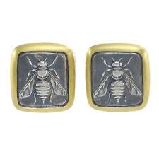 Silver Petrvs Bee Cameo Cufflinks David Yurman 22k Yellow Gold Sterling