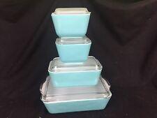 Vintage Robins Egg/Tiffany Blue Pyrex Refrigerator Dishes 2-501 502 503 AWESOME!