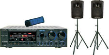 VOCOPRO ASP-9800 PROFESSIONAL MIXING AMPLIFIER + SPEAKER PACKAGE