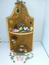 Job Lot mixed Collection Curios Jewellery Czech Glass Cat Wade Caterpillar Poole
