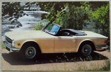 """More details for triumph tr6 pi car colour postcard 1970s 5 ½""""x 3 ½"""" unused"""
