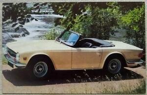 "TRIUMPH TR6 PI Car Colour Postcard 1970s 5 ½""x 3 ½"" Unused"