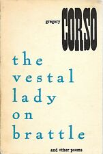Gregory Corso The Vestal Lady on Brattle And Other Poems Facsimile Edition 1969