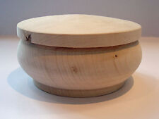 Boîte ronde / bonbonnière en bois brut à décorer - diam 130 mm