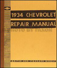 1934 Chevrolet Shop Manual BARGAIN 34 Chevy Car and Truck Repair Service Book