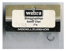VINTAGE RC AIRPLANE WEBRA ENGINE WRIST PISTON PIN CLIPS 1050 7A .50 ? old stock