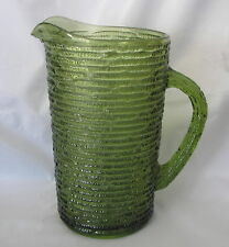 SORENO Pitcher Anchor Hocking 1960s Large Vintage Avocado Green 26oz PITCHER