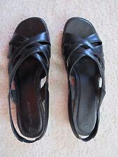 White Stag brand Black Sandals Slip on Elastic strap Size 7 1/2