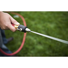 Yardsmith Metal Water Jet Shut Off Attach Hose Nozzle Adjustable Flow Control
