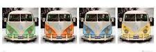 Vw Californian Camper cuatro puertas/vista cartel 158cm X 53cm (nuevo Y Sellado)