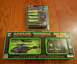NANO TITAN REMOTE CONTROL HELICOPTER – GLOW IN THE DARK HELICOPTER + EXTRAS!