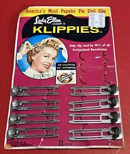 Vintage Lady Ellen Klippies Hollywood Hair Clips 1950s 8 Clips Curl Clips Retro
