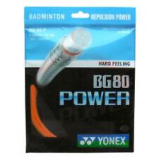 Yonex BG-80 Poder 10 Metros Naranja Cuerda para Raqueta de Badminton Nuevo Wow