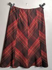 Tartan Skirt 16 Steampunk Goth  Red Christmas Scotland isle lined warm outdoor