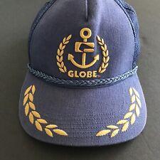 Globe Men's Trucker Cap Cotton Polyester Navy & Gold