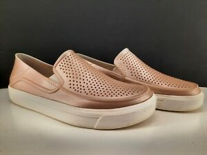 Iconic Crocs Comfort Light Brown , Perforated Loafers. Approx. 7.5 to 8 Mens/Boy