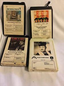 Jewish Vintage Music 8 track tape Lot of 4 Judaica Untested Hava Nagila Tucker