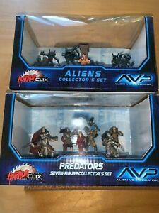 Horrorclix AVP Aliens and Predator Collector (two) sets, new, never opened