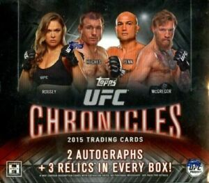 2015 Topps UFC CHRONICLES Hobby Box Factory Sealed