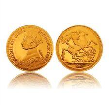 British 1847 victoria Gótico chapado en oro moneda