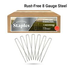 Sandbaggy 12 Inch Rust Free Landscape Staples ~ Sod Stakes Fabric Pins - 8 Gauge