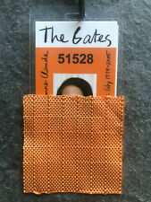 Christo & Jeanne-Claude Original Saffron Orange FABRIC SWATCH 2005 THE GATES NYC