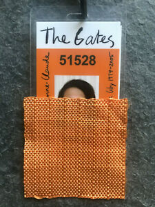 Christo & Jeanne-Claude Original Saffron Orange FABRIC SWATCH 2005 THE GATES