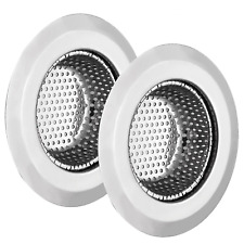 """New listing Wideskall 4.5"""" Stainless Steel Large Wide Rim Sink Strainer for Kitchen Drain (P"""