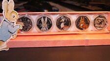 Beatrix Potter Jemima Puddleduck 50p Set Completo Coin-MONETA NON prova SILVER