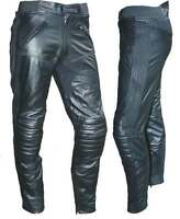 """NEW MENS PREMIUM LEATHER TOURING MOTORCYCLE PANTS CE ARMOUR HIPS KNEES 42"""" WAIST"""