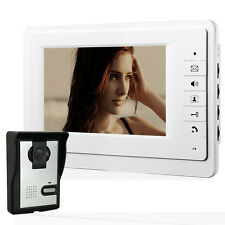 "7"" Digital Touch keypress Intercom LCD Monitor Video Doorphone Doorbell Security"