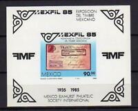 14488) Mexico 1985 MNH Mexfil S/S