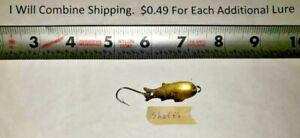 3-21 Vintage Shoff's Big Triple Teazer Brass 1 1/2 inches long fishing lure